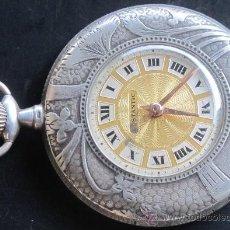 Relojes de bolsillo: PRECIOSO RELOJ BOLSILLO EXTRAPLANO PLATA DOSTANTIC - FUNCIONA PERFECTAMENTE. Lote 31305891