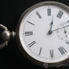 Relojes de bolsillo: RELOJ BOLSILLO PLATA FINA - LLAVE - J.W.BENSON - LONDON - FUNCIONANDO Y REVISADO.. Lote 31306438