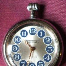 Relojes de bolsillo: RELOJ DE BOLSILLO CUERDA THERMIDOR ANTICHOC SOBRE 1950. Lote 31345137