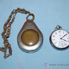 Relojes de bolsillo: RELOJ DE BOLSILLO CON ESTUCHE Y CADENA. Lote 31667220