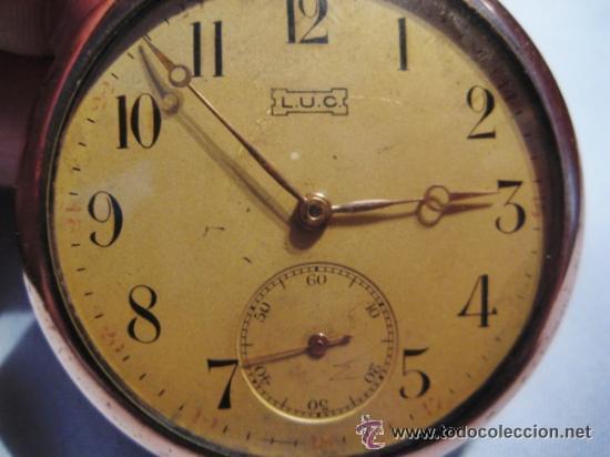 IMPRESIONANTE RELOJ DE BOLSILLO L.U.C CHOPARD,RELOJ DE LUJO,DATA DE 1920,53 MM,FUNCIONA CORRECTO (Relojes - Bolsillo Carga Manual)