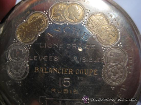 Relojes de bolsillo: Impresionante reloj de bolsillo L.U.C CHOPARD,reloj de lujo,data de 1920,53 mm,funciona correcto - Foto 6 - 31692836