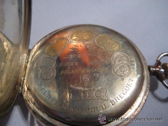 Relojes de bolsillo: Impresionante reloj de bolsillo L.U.C CHOPARD,reloj de lujo,data de 1920,53 mm,funciona correcto - Foto 7 - 31692836