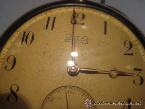 Relojes de bolsillo: Impresionante reloj de bolsillo L.U.C CHOPARD,reloj de lujo,data de 1920,53 mm,funciona correcto - Foto 12 - 31692836