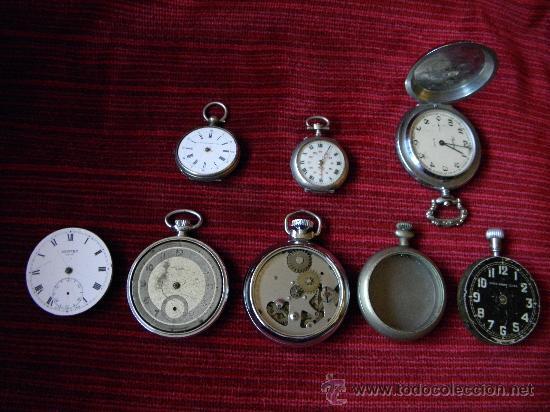 LOTE DE RELOJES Y PIEZAS (Relojes - Bolsillo Carga Manual)