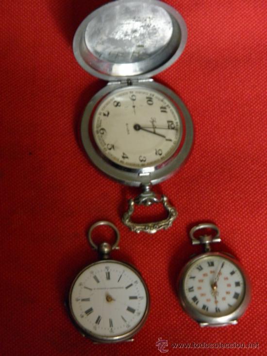 Relojes de bolsillo: LOTE DE RELOJES Y PIEZAS - Foto 2 - 31959753