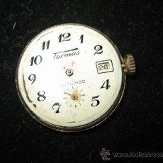 Relojes de bolsillo: RELOJ DE PLATA MARCA TORMAS CON CALENDARIO LE FALTA EL CRISTAL Y EL ARO QUE LE SUJETA . Lote 32088523