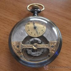 Relojes de bolsillo: RELOJ DE BOLSILLO TOURBILLON MOBILIS, TIPO CARRUSEL.. Lote 32094604