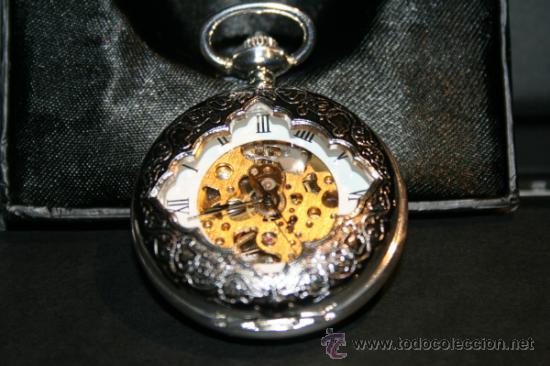 RELOJ BOLSILLO NANTES. BAÑO DE PLATA. COLECCION. NUEVO. (Relojes - Bolsillo Carga Manual)