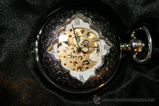 Relojes de bolsillo: RELOJ BOLSILLO NANTES. BAÑO DE PLATA. COLECCION. NUEVO. - Foto 6 - 32549831