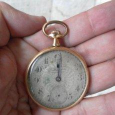 Relojes de bolsillo: ANTIGUO RELOJ. L. HIRONDELLES. BOLSILLO. ORO DE 18 QUILATES. . Lote 32313214