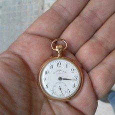 Relojes de bolsillo: ANTIGUO RELOJ. BOLSILLO. E.A. VOGLER. HAMBURGO. ORO DE 14 QUILATES. . Lote 32313259