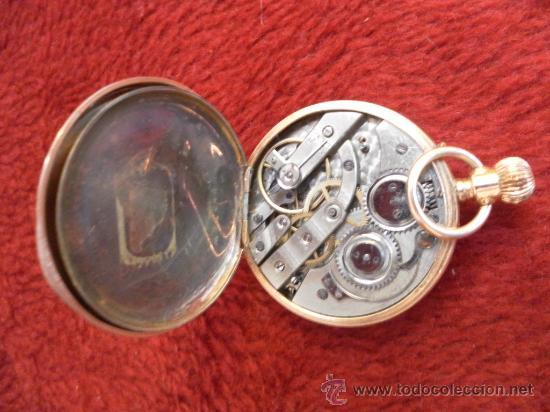 Relojes de bolsillo: Antiguo reloj. Bolsillo. Remontoir. Oro de 14 Quilates. - Foto 6 - 32313026