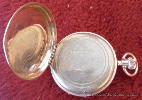 Relojes de bolsillo: Antiguo reloj. Bolsillo. Remontoir. Oro de 14 Quilates. - Foto 8 - 32313026