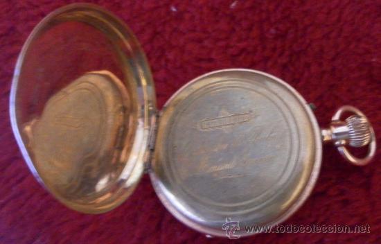 Relojes de bolsillo: Antiguo reloj. Bolsillo. Remontoir. Oro de 14 Quilates. - Foto 9 - 32313026