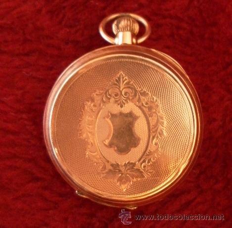 Relojes de bolsillo: Antiguo reloj. Bolsillo. Remontoir. Oro de 14 Quilates. - Foto 10 - 32313026