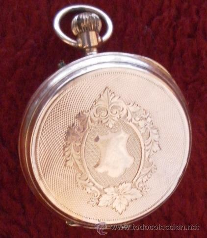Relojes de bolsillo: Antiguo reloj. Bolsillo. Remontoir. Oro de 14 Quilates. - Foto 11 - 32313026