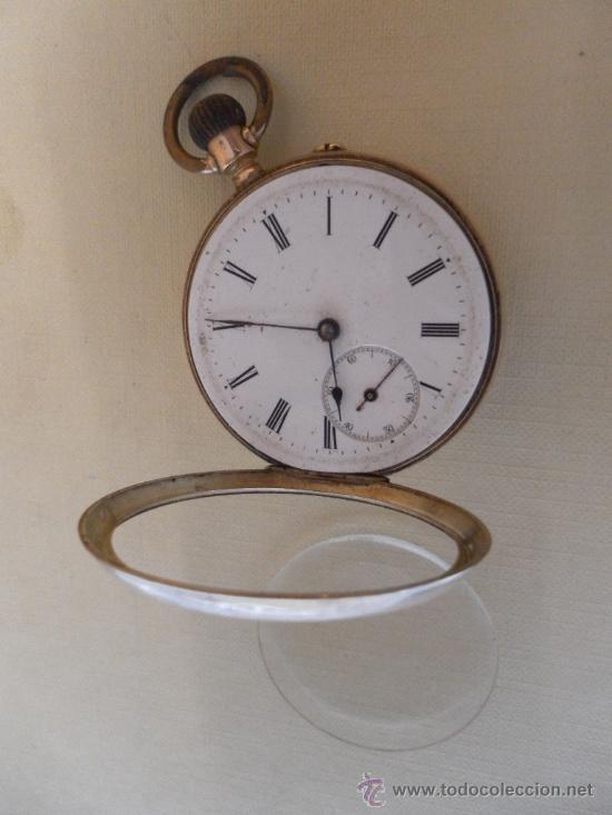 Relojes de bolsillo: Antiguo reloj. Bolsillo. Oro de 14 Quilates. - Foto 4 - 32313124