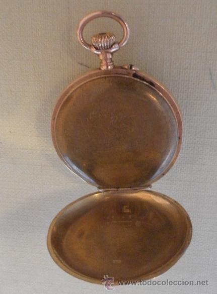 Relojes de bolsillo: Antiguo reloj. Bolsillo. E.A. Vogler. Hamburgo. Oro de 14 Quilates. - Foto 5 - 32313259