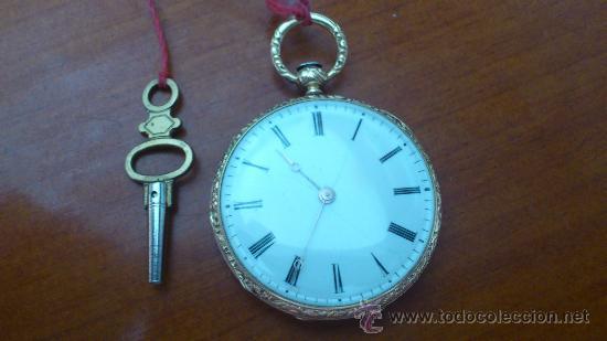 Escape Oro no Cilindro En A De Venta 18k Reloj Vendido 6f7ybg