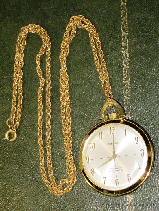 OFERTA, RELOJ DE BOLSILLO SUIZO CIMIER CON CADENA (Relojes - Bolsillo Carga Manual)