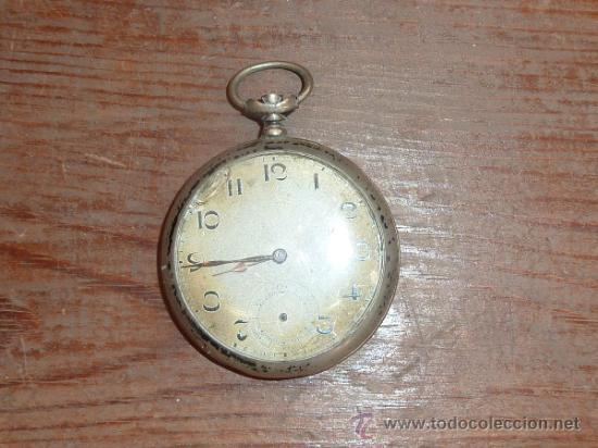 ANTIGUO RELOJ DE BOLSILLO EN PLATA 800. (Relojes - Bolsillo Carga Manual)
