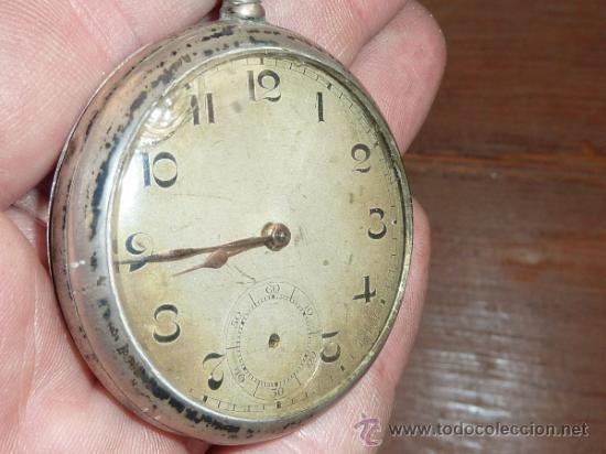 Relojes de bolsillo: Antiguo reloj de bolsillo en plata 800. - Foto 2 - 62971754