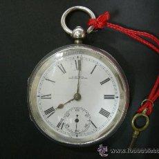 Relojes de bolsillo: RELOJ DE BOLSILLO DE PLATA, CAJA INGLESA 2 TAPAS, WALTHAM MASS, MEDIDA 55 MM, FUNCIONANDO. Lote 33816591