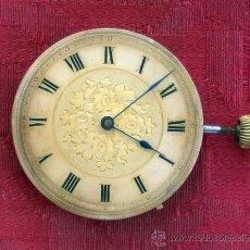 Relojes de bolsillo: MAQUINA ANTIGUA PARA RELOJ DE BOLSILLO.. Lote 34219211