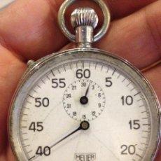Relojes de bolsillo: ANTIGUO CRONÓMETRO HEUER EN FUNCIONAMIENTO.. Lote 34436690