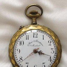 Relojes de bolsillo: RELOJ DE BOLSILLO ANTIGUO ROSKOPF ANIS MARIPOSA MADRID. Lote 34619521