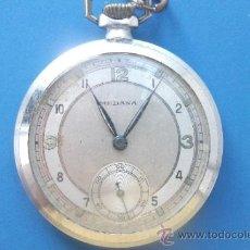 Relojes de bolsillo: RELOJ DE BOLSILLO MEDANA - SUIZO - DISEÑO ART DECO. COMPLETO Y ENTERO - PARA REPARAR. Lote 34917510
