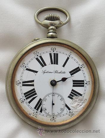 Gran Reloj De Bolsillo Antiguo Ferroviario Glas Comprar Relojes