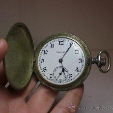 Relojes de bolsillo: RELOJ DE BOLSILLO. CARGA MANUAL. 3 TAPAS. PLATA .800 MLS (CON CONTRASTES). MEDANA - REMONTOIR.. Lote 35799167