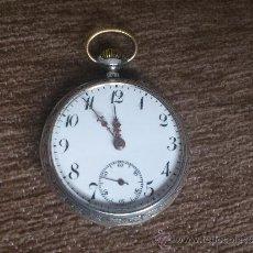 Relojes de bolsillo: RELOJ BOLSILLO CIRCA1900 PRECIOSO ALOUETTE DE PLATA 0.800. Lote 36163436