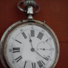 Relojes de bolsillo: RELOJ DE BOLSILLO TRES TAPAS DE PLATA. Lote 36185342