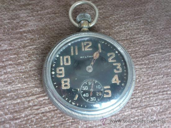 WALTHAM MILITAR. DE LA GRAN GUERRA MUNDIAL. (Relojes - Bolsillo Carga Manual)