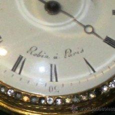 Relojes de bolsillo: PIEZA DE MUSEO RELOJ BOLSILLO ORO Y ESMALTE ROBIN PARIS. Lote 36803912