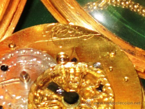 Relojes de bolsillo: PIEZA DE MUSEO RELOJ BOLSILLO ORO Y ESMALTE ROBIN PARIS - Foto 15 - 36803912