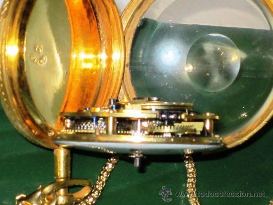 Relojes de bolsillo: PIEZA DE MUSEO RELOJ BOLSILLO ORO Y ESMALTE ROBIN PARIS - Foto 16 - 36803912