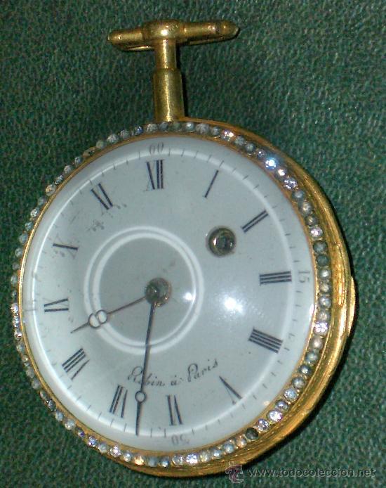 Relojes de bolsillo: PIEZA DE MUSEO RELOJ BOLSILLO ORO Y ESMALTE ROBIN PARIS - Foto 18 - 36803912