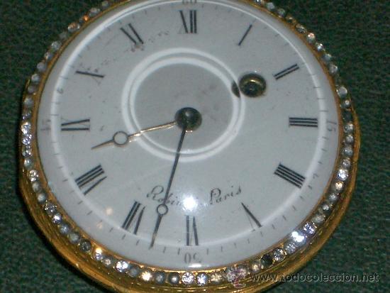 Relojes de bolsillo: PIEZA DE MUSEO RELOJ BOLSILLO ORO Y ESMALTE ROBIN PARIS - Foto 19 - 36803912
