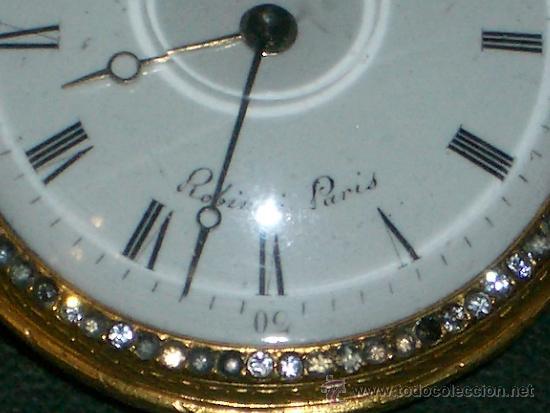 Relojes de bolsillo: PIEZA DE MUSEO RELOJ BOLSILLO ORO Y ESMALTE ROBIN PARIS - Foto 20 - 36803912