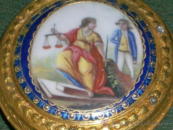 Relojes de bolsillo: PIEZA DE MUSEO RELOJ BOLSILLO ORO Y ESMALTE ROBIN PARIS - Foto 22 - 36803912