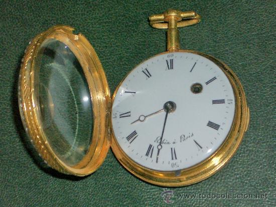 Relojes de bolsillo: PIEZA DE MUSEO RELOJ BOLSILLO ORO Y ESMALTE ROBIN PARIS - Foto 23 - 36803912