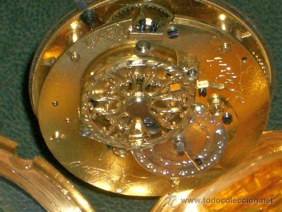Relojes de bolsillo: PIEZA DE MUSEO RELOJ BOLSILLO ORO Y ESMALTE ROBIN PARIS - Foto 25 - 36803912