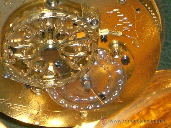 Relojes de bolsillo: PIEZA DE MUSEO RELOJ BOLSILLO ORO Y ESMALTE ROBIN PARIS - Foto 26 - 36803912