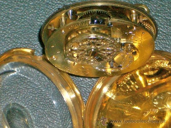 Relojes de bolsillo: PIEZA DE MUSEO RELOJ BOLSILLO ORO Y ESMALTE ROBIN PARIS - Foto 27 - 36803912