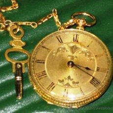 Relojes de bolsillo: PIEZA DE MUSEO RELOJ BOLSILLO ORO,. Lote 36805197