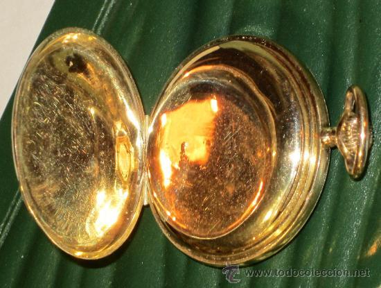 Relojes de bolsillo: SENSACIONAL RELOJ BOLSILLO CRONOMETRO ORO - Foto 5 - 36809627